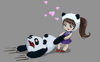 Panda love wallpaper 1920x1200 jpg