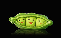 Plush peas in a pod wallpaper 1920x1200 jpg