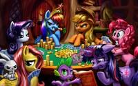 Ponies playing poker wallpaper 3840x2160 jpg