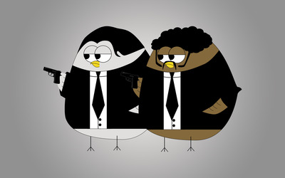 Pulp Fiction birds wallpaper