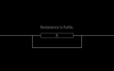 Resistance is futile wallpaper