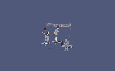 Robot dance contest wallpaper