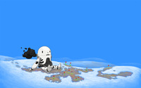Robot in the snow wallpaper 2560x1600 jpg