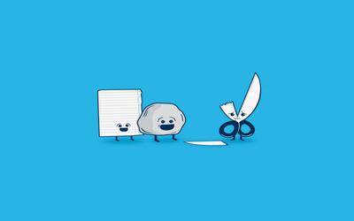 Rock, paper, scissors wallpaper