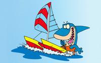 Sailing shark wallpaper 1920x1200 jpg