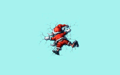 Santa fell from the sky wallpaper