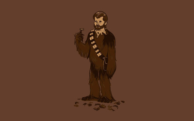 Shaved Chewbacca wallpaper