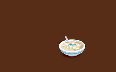 Smurf mushroom soup wallpaper