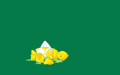 Squeezed lemons wallpaper
