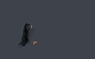 Squirrel and the grim reaper wallpaper