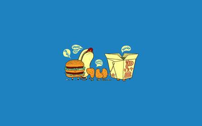 Talking fast food wallpaper