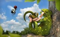 Tangled chameleon wallpaper 2560x1600 jpg