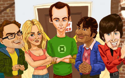 The Big Bang Theory caricature wallpaper