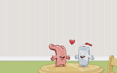 Tongue loves shake wallpaper