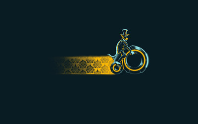Vintage tron bike wallpaper