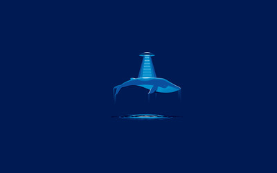 Whale abducted by aliens wallpaper