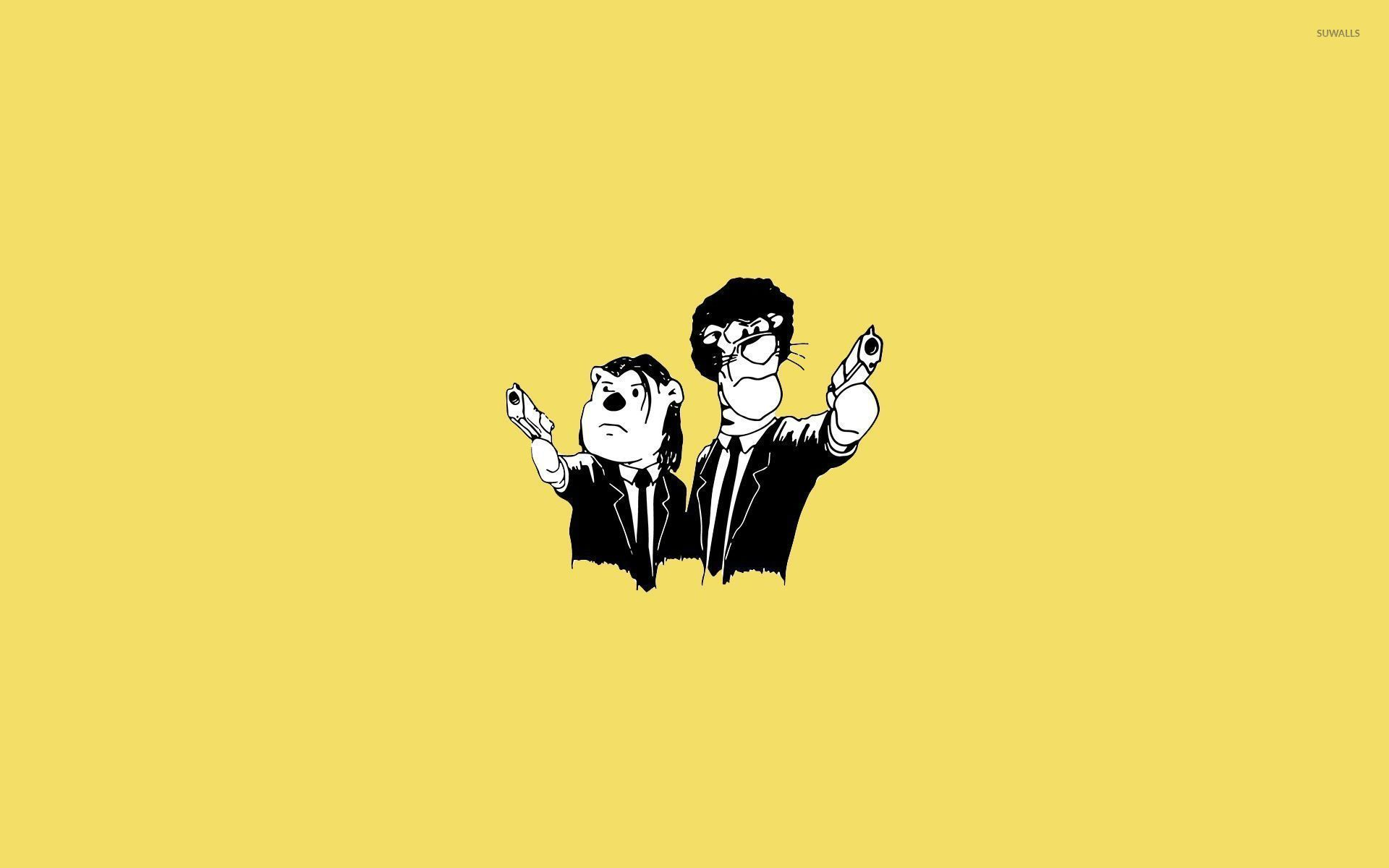 Winnie The Pooh Pulp Fiction Crossover Wallpaper Funny
