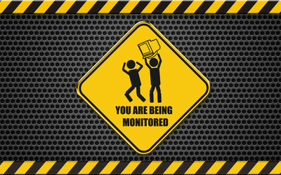You are being monitored wallpaper