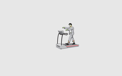 Zombie on a treadmill wallpaper