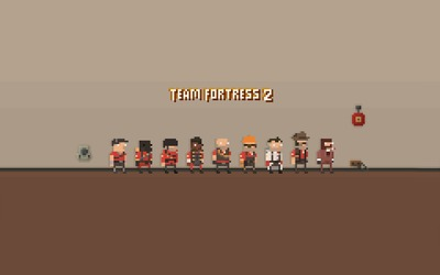8-bit Team Fortress 2 wallpaper