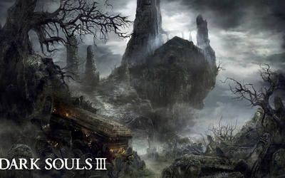 Abandoned cemetery in Dark Souls III wallpaper