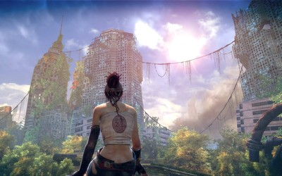 Abandoned world in Enslaved Odyssey to the West wallpaper