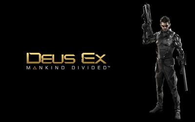 Adam Jensen in Deus Ex: Mankind Divided wallpaper