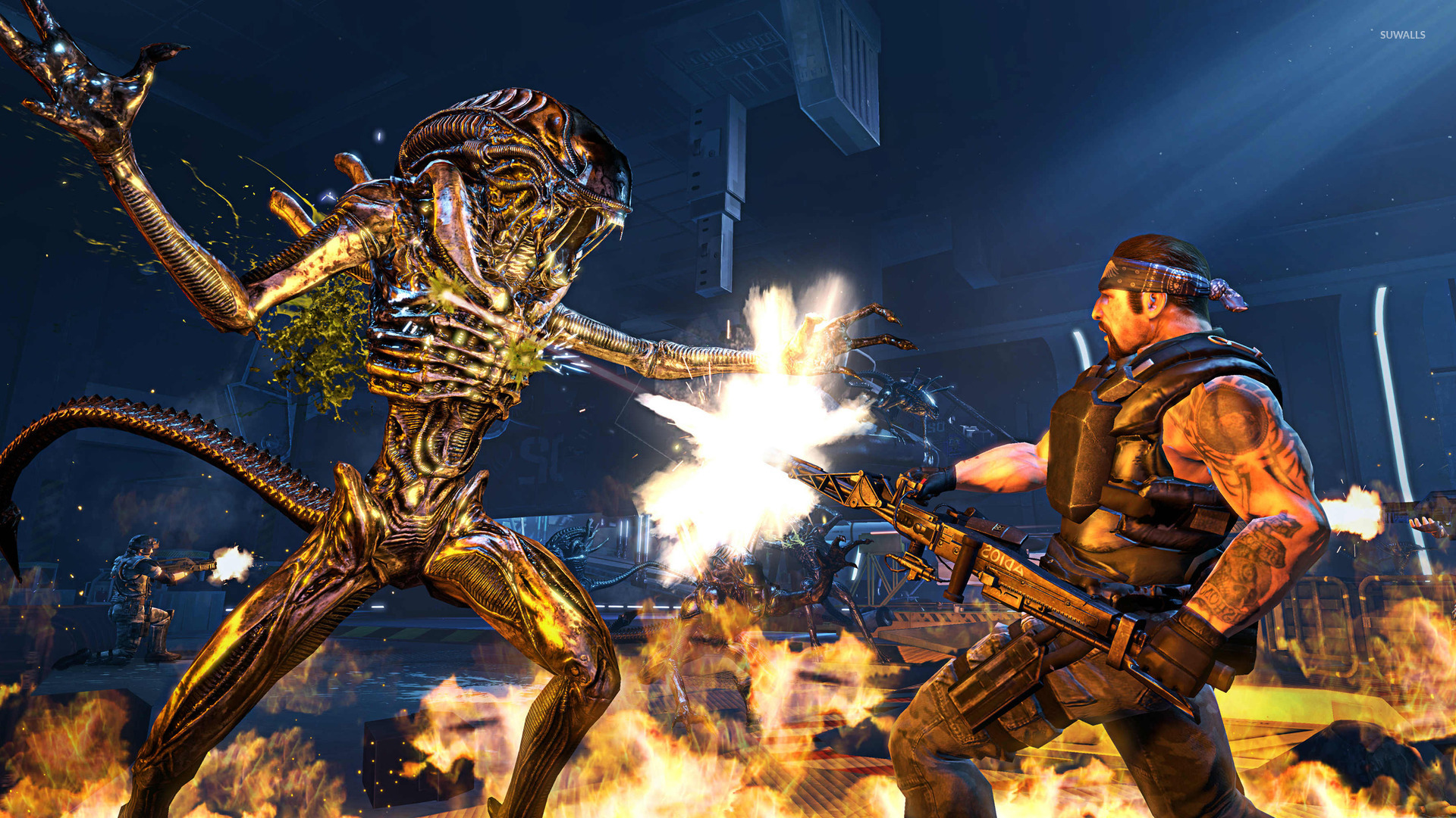 aliens colonial marines 8 wallpaper game wallpapers