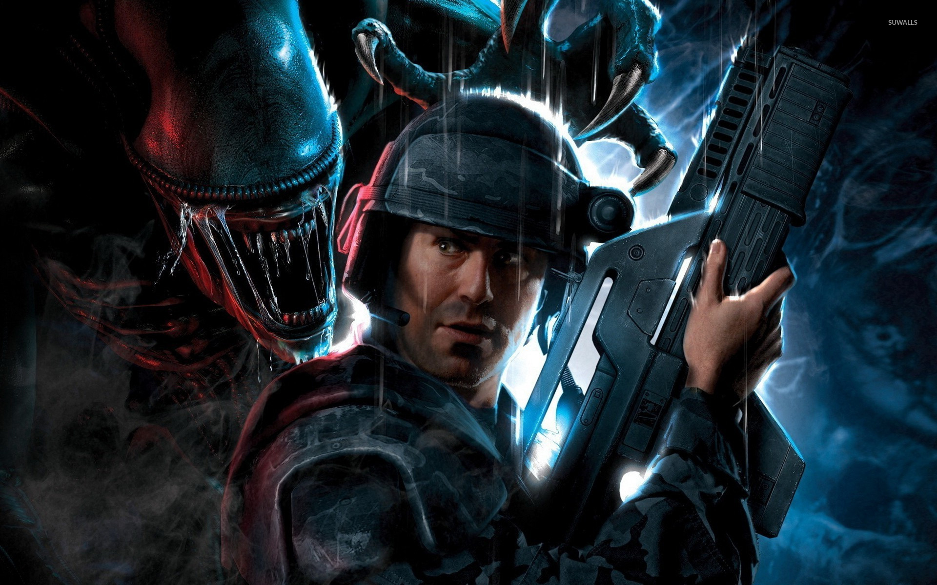 aliens colonial marines 2 wallpaper game wallpapers