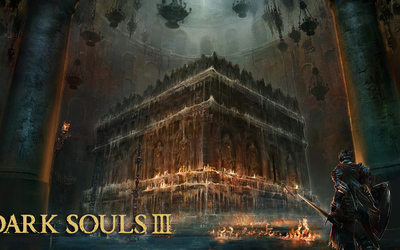 Altar in a church in Dark Souls III wallpaper