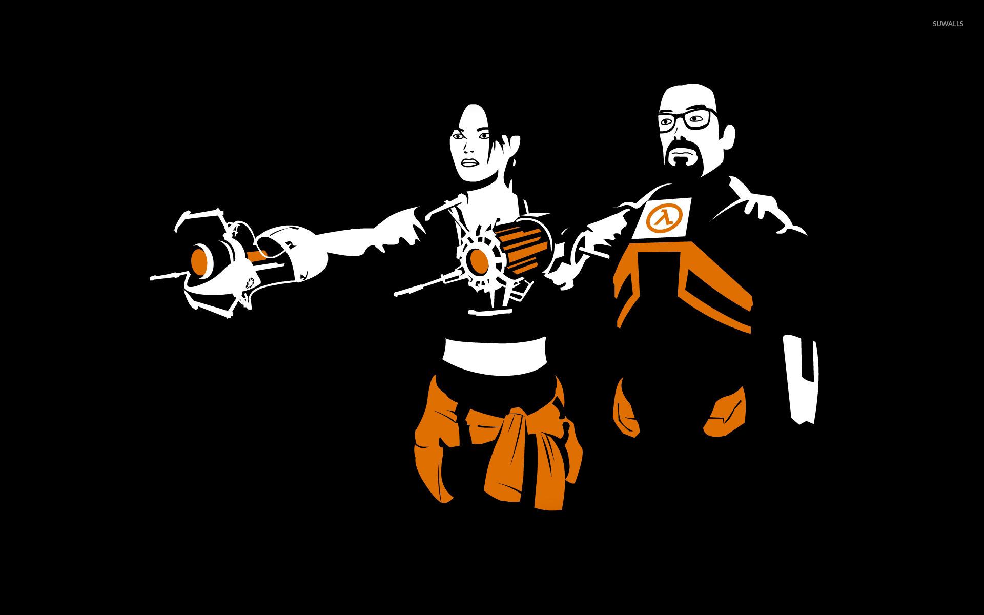 alyx vance and gordon freeman - half-life 2 wallpaper - game
