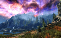 Amazing sky in The Elder Scrolls V: Skyrim wallpaper 1920x1080 jpg