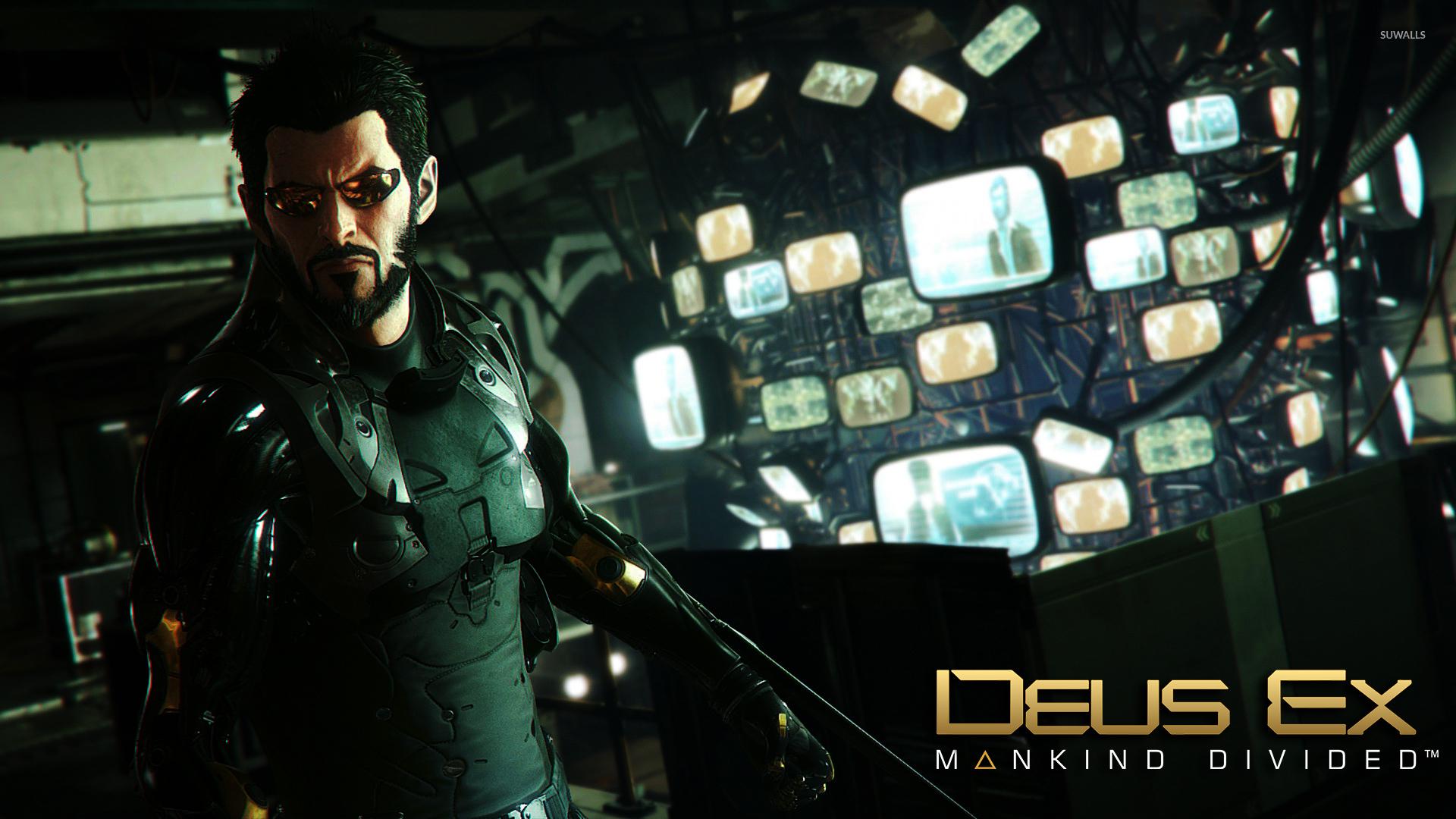 Angry Adam Jensen In Deus Ex Mankind Divided Wallpaper Game