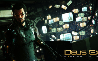 Angry Adam Jensen in Deus Ex: Mankind Divided wallpaper