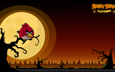 Angry Birds Seasons: Halloween wallpaper