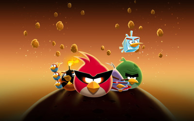 Angry Birds Space wallpaper