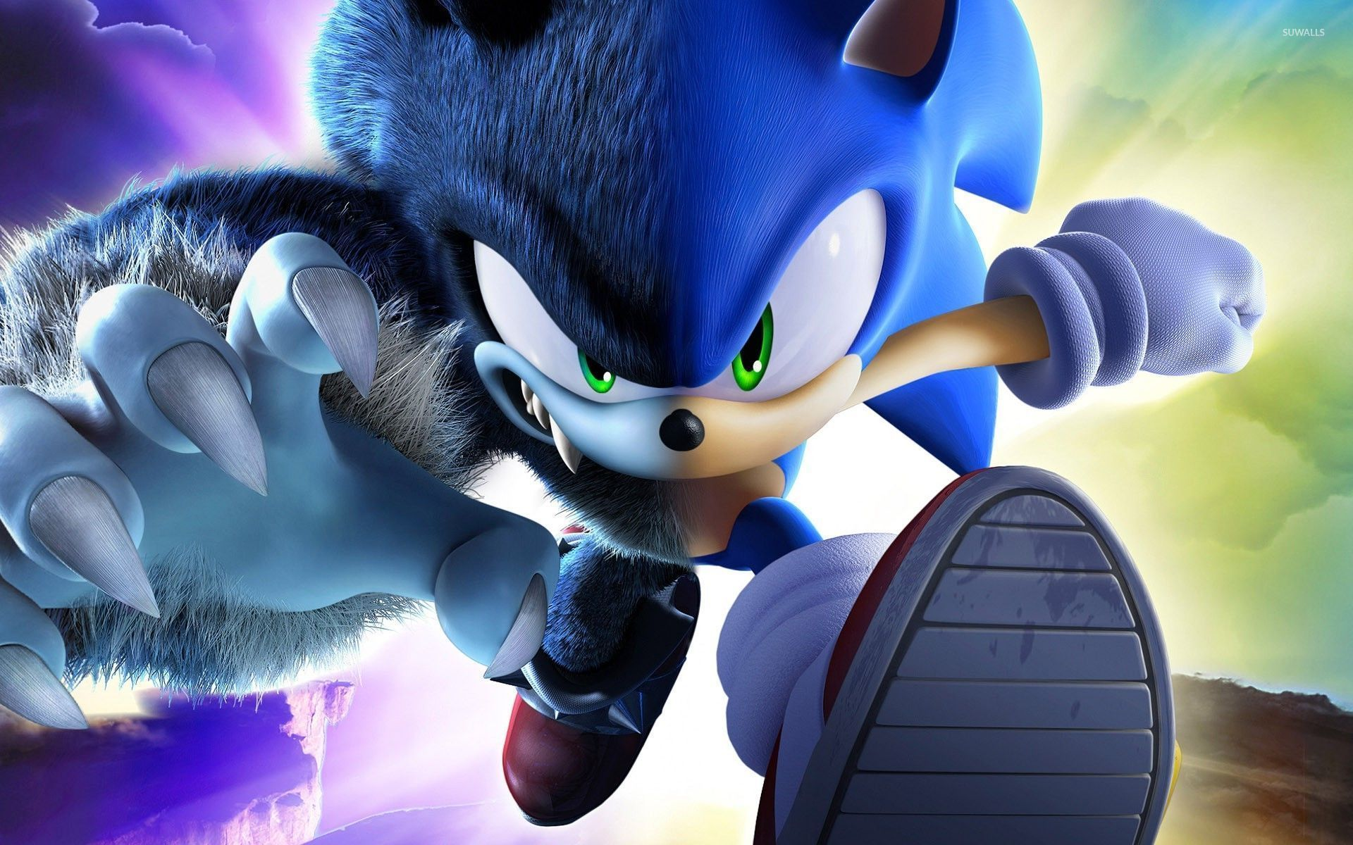 Angry Sonic the Hedgehog wallpaper