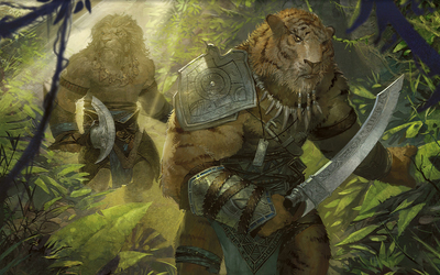 Animal warriors in Magic: The Gathering wallpaper