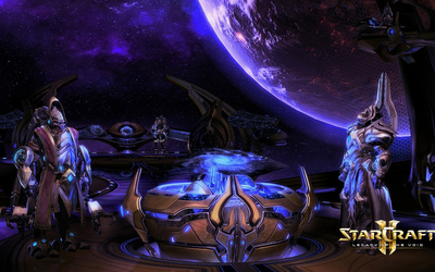 Artanis and Karax in StarCraft II: Legacy of the Void wallpaper
