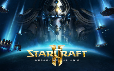 Artanis and spaceships in StarCraft II: Legacy of the Void wallpaper