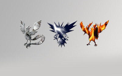 Articuno, Zapdos and Moltres - Pokemon wallpaper
