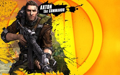 Axton the Commander with a rifle - Borderlands 2 wallpaper