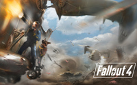 Battle in Fallout 4 wallpaper 3840x2160 jpg