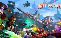 Battleborn heroes in battle wallpaper 3840x2160 jpg