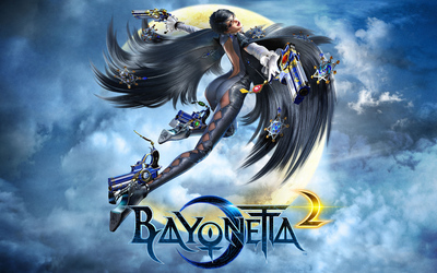 Bayonetta with guns in Bayonetta 2 wallpaper