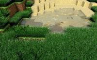 Beautiful garden in Minecraft wallpaper 1920x1080 jpg