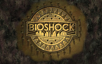 BioShock golden logo wallpaper 1920x1200 jpg