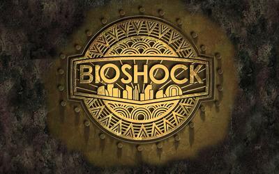 BioShock golden logo wallpaper
