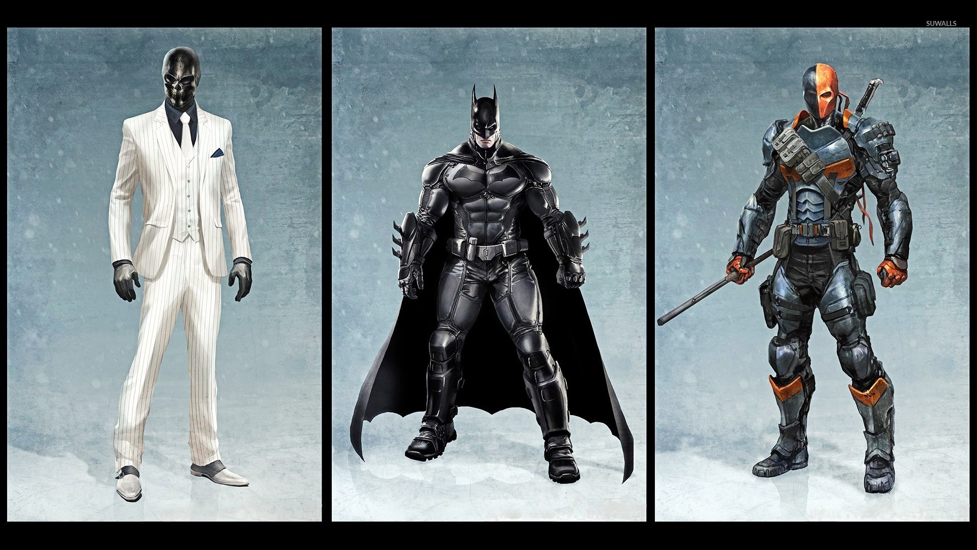 Black Mask Batman And Deathstroke Batman Arkham Origins