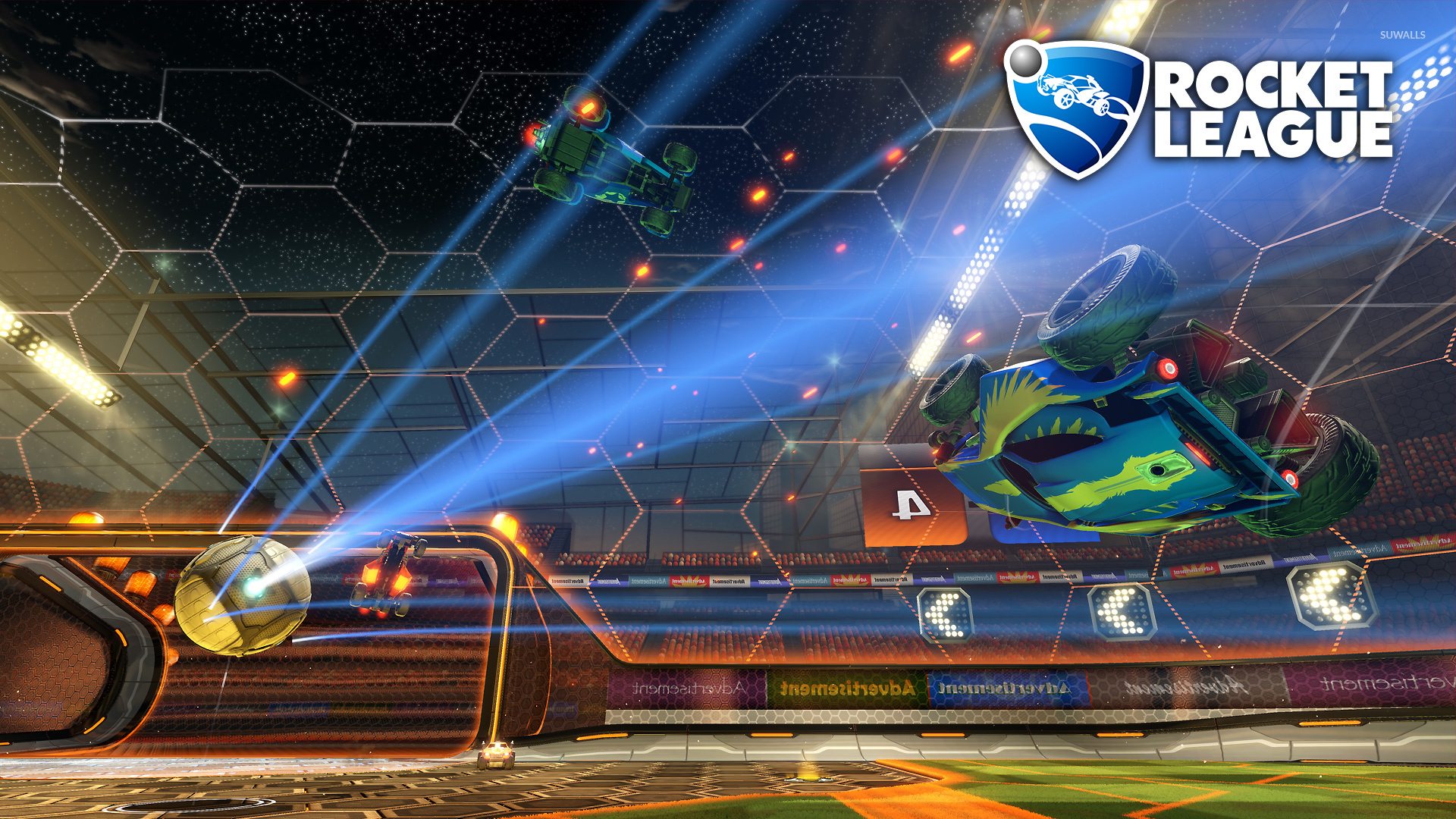 Car Exploding In Rocket League Wallpaper Game Wallpapers